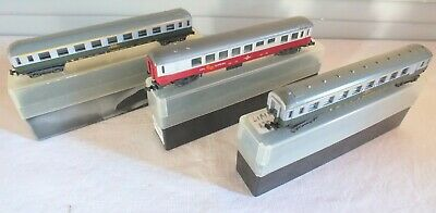 Lot 3 Voitures Wagons SNCF UIC A7D Grill Express UIC A9 LIMA N 1/160 • 69€