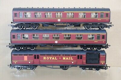 HORNBY RAKE Of 3 BR MAROON STANIER COMPOSITE & ROYAL MAIL COACH Nx • 66.94€