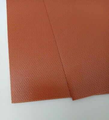 EMBOSSED Red BRICK PLASTIC CARD 0.5mm Thick 1.5 Sheets A4 Size • 4.50€
