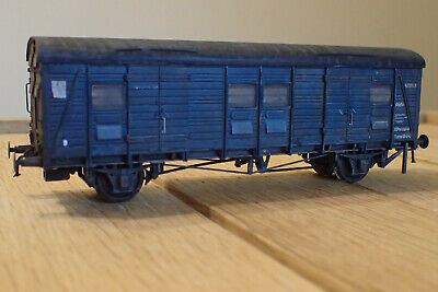 Bachmann Ex-Southern CCT Covered Carriage Truck In BR Blue 39-528 Weathered • 16.88€