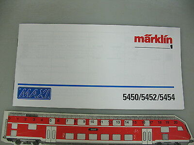 AO595-0,5 # Märklin Échelle 1 Instruction Maxi 5450/5452/5454 Pour Locomotive • 23.24€