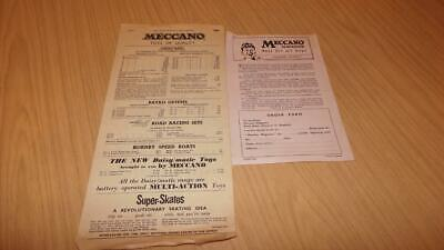 AG275: Meccano Order Form & 1964 Price List - Includes Hornby & Dinky Items • 3.38€
