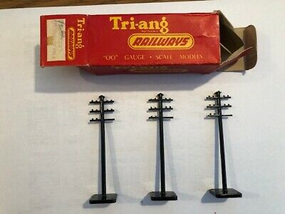 Tri-ang R86 3 Telegraph Poles Mint Condition - With Box Rare • 6.75€