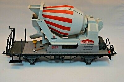 LGB G Gauge 4055 Flat Wagon Loaded With L G Beton Cement Mixer Boxed • 75.17€