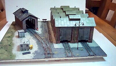 Loco Shed Diorama With Lights OO/HO Suit Hornby • 28.90€