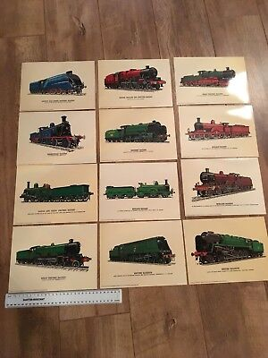Set Of 12 Steam Engine Picture Cards • 15.71€