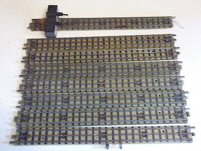 10 X Hornby Dublo 3 Rail Long Straights In Used Condition. • 4.52€