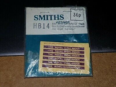 OO Gauge Smiths HB14 BR Self Adhesive Coach Boards The Royal Highlander  • 4.51€