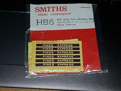 OO Gauge Smiths HB6 BR Self Adhesive Coach Boards PINES EXPRESS • 4.51€