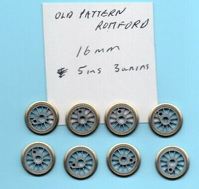 Romford 16mm Wheels 5 Insulated 3 Uninsulated Old Pattern OO • 24.33€