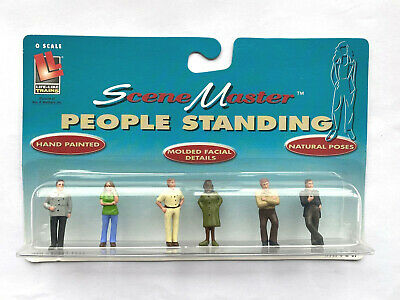 SceneMaster 433-1855 Life-Like People Standing Personnes Debout O Scale Neuf • 11€