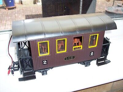 LGB 3000 G SCALE MODEL RAILWAY BROWN PASSENGER COACH With LIGHTS • 3.58€
