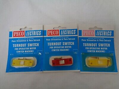3 X New Peco Lectrics PL-16 Turnout Switch 1 X Red 2 X Yellow  • 11.24€