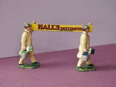 DINKY TOYS MECCANO HORNBY SERIES No.13 1931-40 RARE LEAD HALLS DISTEMPER FIGURES • 187.46€