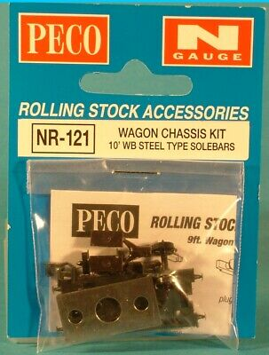 Wagon Chassis Kits With Wheels And Couplings Peco N Gauge. • 3.33€