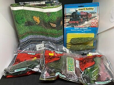 Merit/javis Oo Trees - Track Mat - Flower Bed Job Lot - Scenery • 8.98€