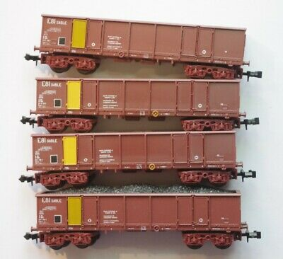 Lima Sncf 4 Wagons Tombereaux E81  Echelle N Reference 320457 • 52€
