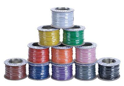 Model Railway Layout/Point Motor Wire - Any 4 X 100m Rolls Deal 7/0.2mm 1.4A T48 • 43.22€