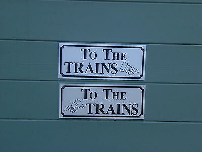 A Shed, Workshop, Train Room, Sign 'TO THE TRAINS'. Great Gift Idea • 5.59€