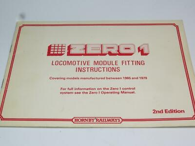 HORNBY OO MODEL RAILWAY Zero 1 Control System Loco Module Fitting Instructions • 5.57€
