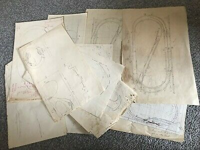 Various Hand Drawn  Designed Railway Track Layouts  • 3.26€