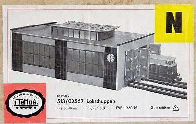 Temos Buildings & Accessories Lokschuppen Engine Shed 2 Seats Scale 1:160 N Ovp • 15.95€