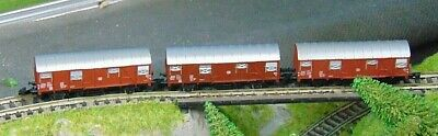 3 X DB Covered Goods Wagons    By MARKLIN   Z Gauge  (B) • 16.67€