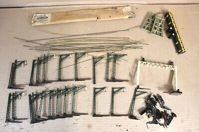 TRIANG HORNBY R573 R419 R317 CATENARY MAST WIRES & SIGNAL GANTRY JOB LOT Nw • 110.47€