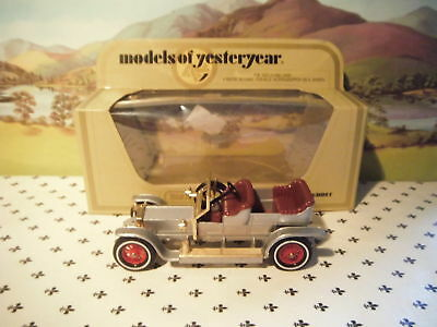 Matchbox Yesteryear Straw Box Y10 Rolls Royce Silver Ghost With Red Seats • 8.49€