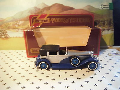 Matchbox Yesteryear 1930 Duesenberg Model J Blue & Silver Y4 Red Box • 10.71€