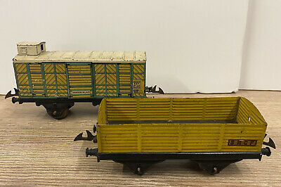 T1518__ Hornby O - Lot 2 Wagons Marchandise Tombereau Et Couvert  • 25.90€
