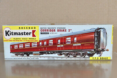 KITMASTER 17 TT GAUGE BR MAROON MK1 CORRIDOR 2nd CLASS BRAKE COACH KIT Nz • 34.11€