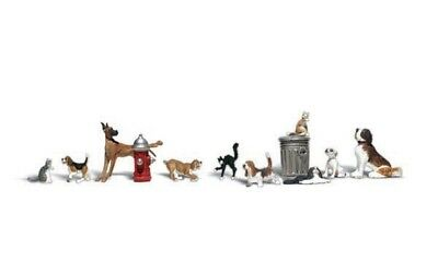 A2140 Animaux Chiens Chats Woodland Scenics 1/160eme  • 19€