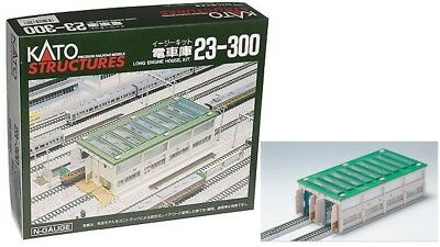 23-300 Batiment Kit Hangar Maintenance à Locomotives KATO Train N 1/160 • 24€