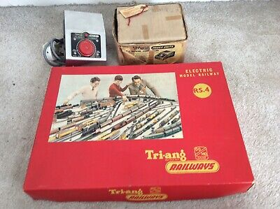Vintage Hornby Tri Ang Train Set Rs.4 And Controller • 155.69€