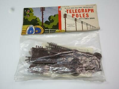 AIRFIX OO/HO MODEL RAILWAY KIT Telegraph Poles Unmade Bagged Rare Type 2 Header • 13.49€