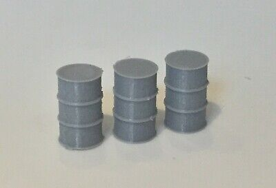 20x Model Railway Oil Drums Barrels S Gauge Grey • 7.81€