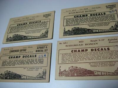 G) Decals For Model Railways Job Lot Red Gold Black White Letters & Numbers • 5.64€