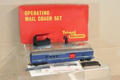 TRIANG R401 TRANSCONTINENTAL TC BLUE OPERATING MAIL COACH SET BOXED Nv • 139.27€