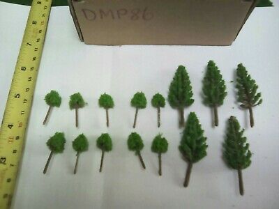 Z Scale   Set Of 15 Trees , Forest, Foliage, Scenery, Small  /conifer DMP86  • 4.19€