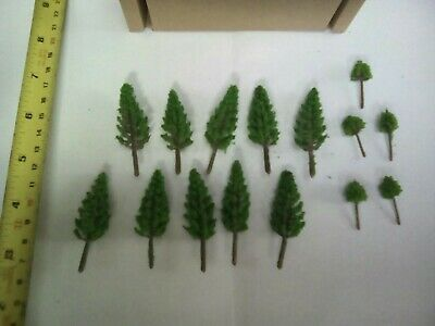 Z Scale   Set Of 15 Trees , Forest, Foliage, Scenery, Small  /conifer DMP85 • 4.19€
