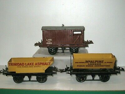 3 Wagons HORNBY échelle 0 Made In England • 15€