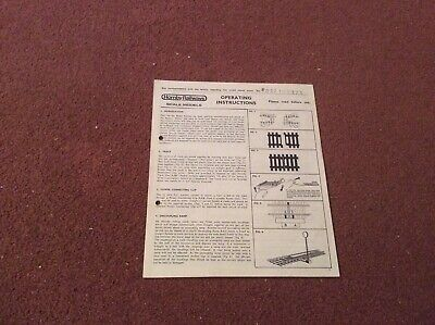 Hornby Railways Scale Models Operating Instructions • 1.66€