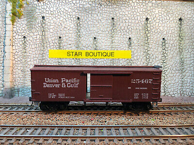 RONDHOUSE HO - Box Car 40' Bois (assemblé) UNION PACIFIC, DENVER & GULF N° 25467 • 12€