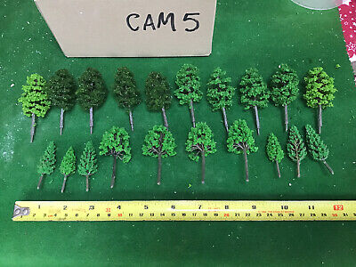 OO/HO Scale   Set Of 20 Trees , Forest, Foliage, Scenery, 2 Tree Types • 12.36€