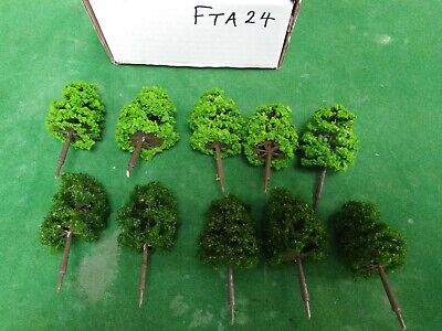 OO/HO Scale   Set Of 10 Trees , Forest, Foliage, Scenery, 2 Tree Types (FTA24)  • 6.74€