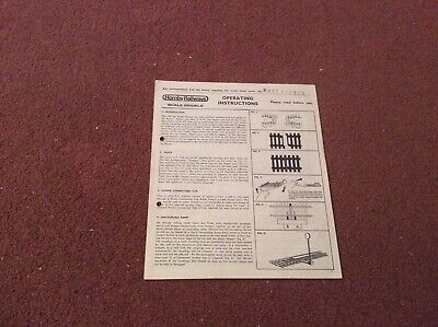 Hornby Railways  Operating Instructions • 1.11€