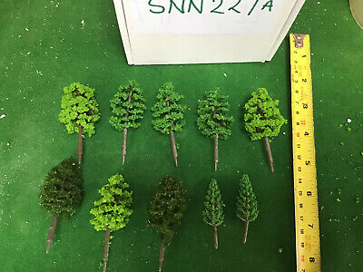 OO/HO Scale   Set Of 10 Trees , Forest, Foliage, Scenery, 2 Tree Types (sNN227a) • 6.74€