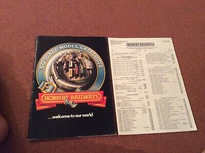 Hornby Railways 00 Scale Model Catalogue 1980 26th Edition & Price List (A2025) • 4.46€