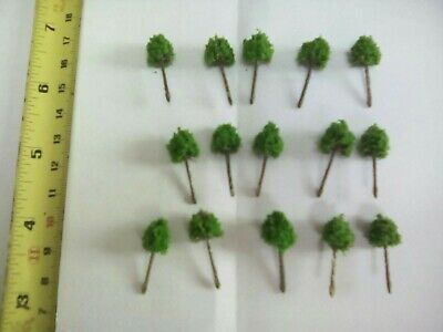 Z Scale   Set Of 15 Trees , Forest, Foliage, Scenery, Small  Type (NAG6) • 4.26€